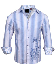 Men's Casual Fashion Button Up Shirt - 'Your Love' by Rock Roll n Soul