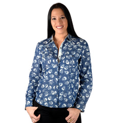 womens long sleeve fashion shirt - Bad Romance by Rock Roll n Soul11