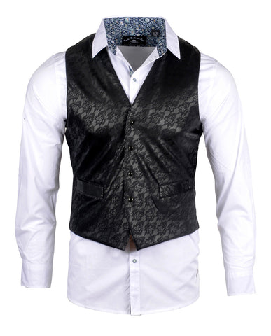 Men's Casual Fashion Button Up Shirt - Vest 'Rock n Roll Suicidal' by Rock Roll n Soul