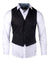 Men's Casual Fashion Button Up Shirt - Vest 'Guitar Wings' by Rock Roll n Soul1