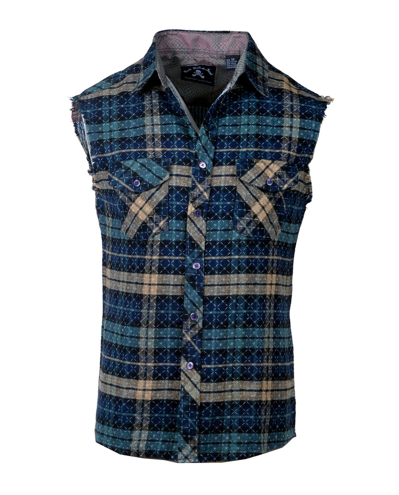 Men's Casual Fashion Button Up Shirt - Wildside by Rock Roll n Soul