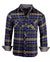 Men's Casual Flannel Fashion Button Up Shirt - Get Rhythm in Navyby Rock Roll n Soul1