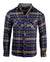 Men's Casual Flannel Fashion Button Up Shirt - Get Rhythm in Navyby Rock Roll n Soul
