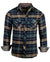 Men's Casual Flannel Fashion Button Up Shirt - Get Rhythm in Oliveby Rock Roll n Soul1