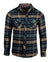 Men's Casual Flannel Fashion Button Up Shirt - Get Rhythm in Oliveby Rock Roll n Soul
