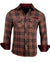 Men's Casual Flannel Fashion Button Up Shirt - Dont take your guns in Brownby Rock Roll n Soul1