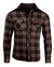 Men's Casual Flannel Fashion Button Up Shirt - Dont take your guns in Blackby Rock Roll n Soul