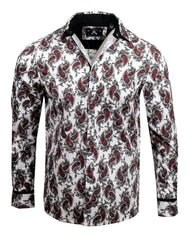 Men's Casual Fashion Button Up Shirt - Paisley Park by Rock Roll n Soul