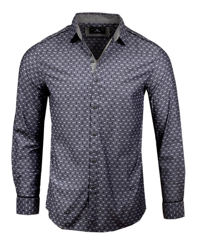 Men's Casual Fashion Button Up Shirt - Coming or Going by Rock Roll n Soul