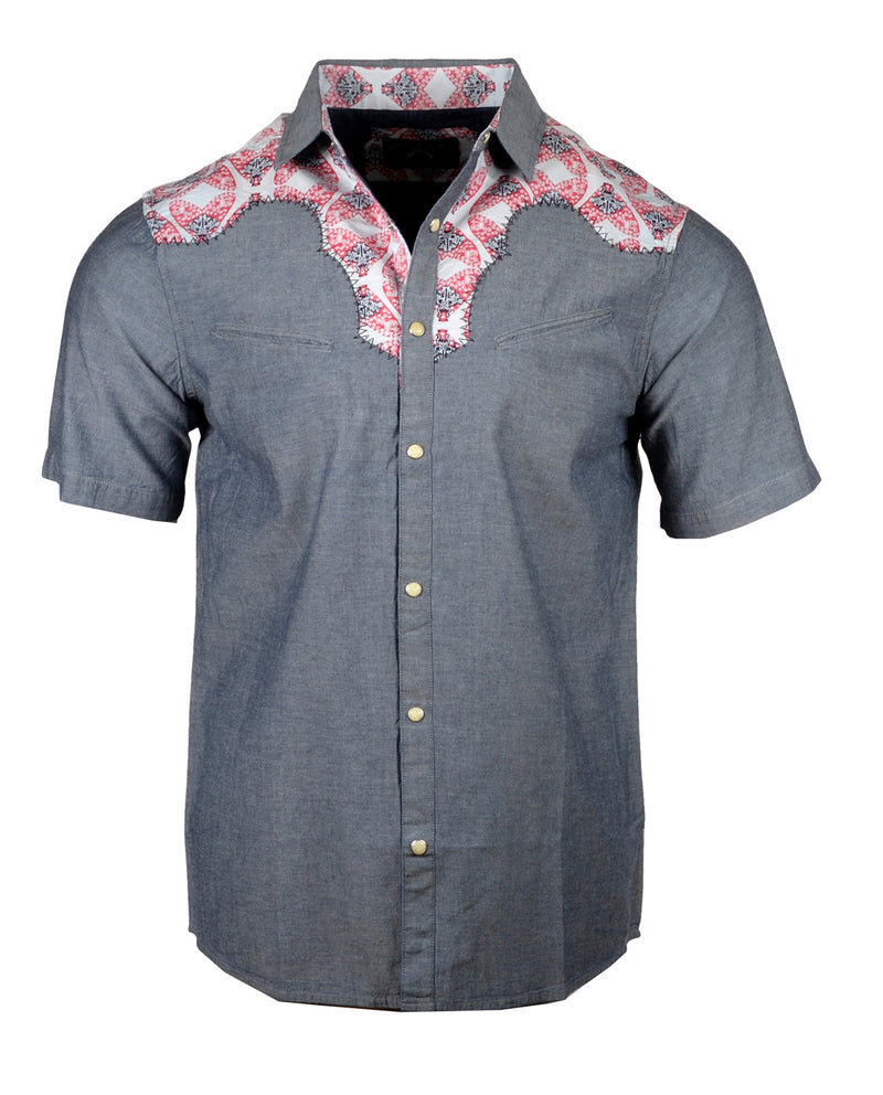 Men's Western Button Up Shirt - S/S Fly on the Side by Rock Roll n Soul