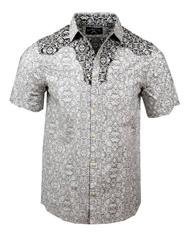 Men's Western Button Up Shirt - S/S Falling in Reverse by Rock Roll n Soul