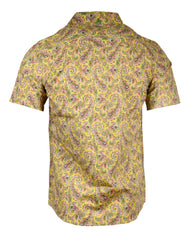 Men's Casual Fashion Button Up Shirt - S/S Hazey Paisley by Rock Roll n Soul1