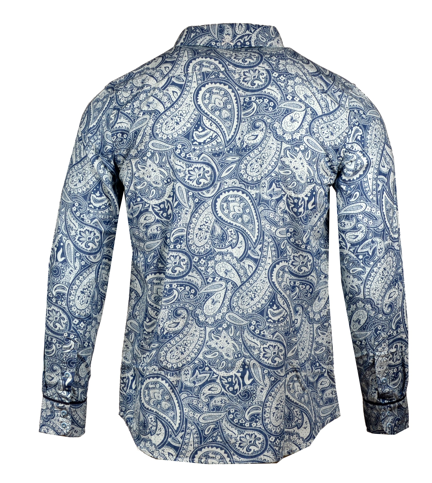 Men's Casual Fashion Button Up Shirt - Hillbilly Deluxe Paisley by Rock Roll n Soul