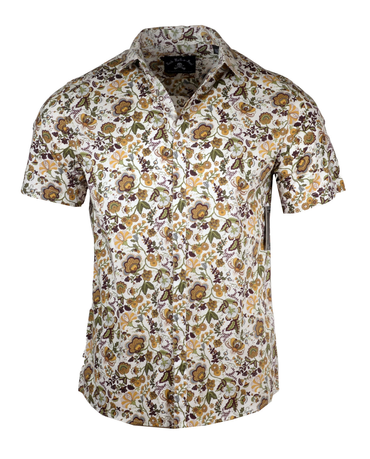 Men's Casual Fashion Button Up Shirt - S/S Our Vines are Divine by Rock Roll n Soul