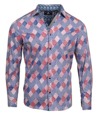 Men's Casual Fashion Button Up Shirt - T for Texas by Rock Roll n Soul
