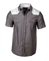 Men's Western Button Up Shirt - S/S Tumble & Twirl by Rock Roll n Soul