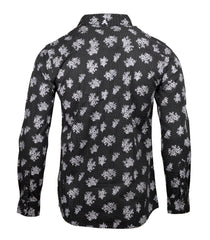 Men's Casual Fashion Button Up Shirt - Slightly Dazed Floral by Rock Roll n Soul