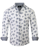Men's Casual Fashion Button Up Shirt - Slightly Dazed white by Rock Roll n Soul