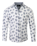 Men's Casual Fashion Button Up Shirt - Slightly Dazed white by Rock Roll n Soul1