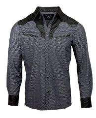 Men's Western Button Up Shirt - Western Stars in the Sky by Rock Roll n Soul