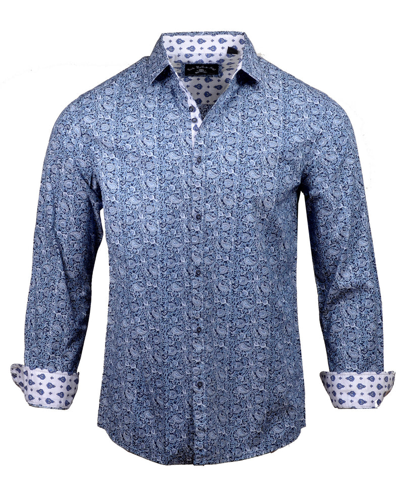 Men's Casual Fashion Button Up Shirt - Wishing Well by Rock Roll n Soul