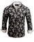 Men's Casual Fashion Button Up Shirt - Flower Well by Rock Roll n Soul