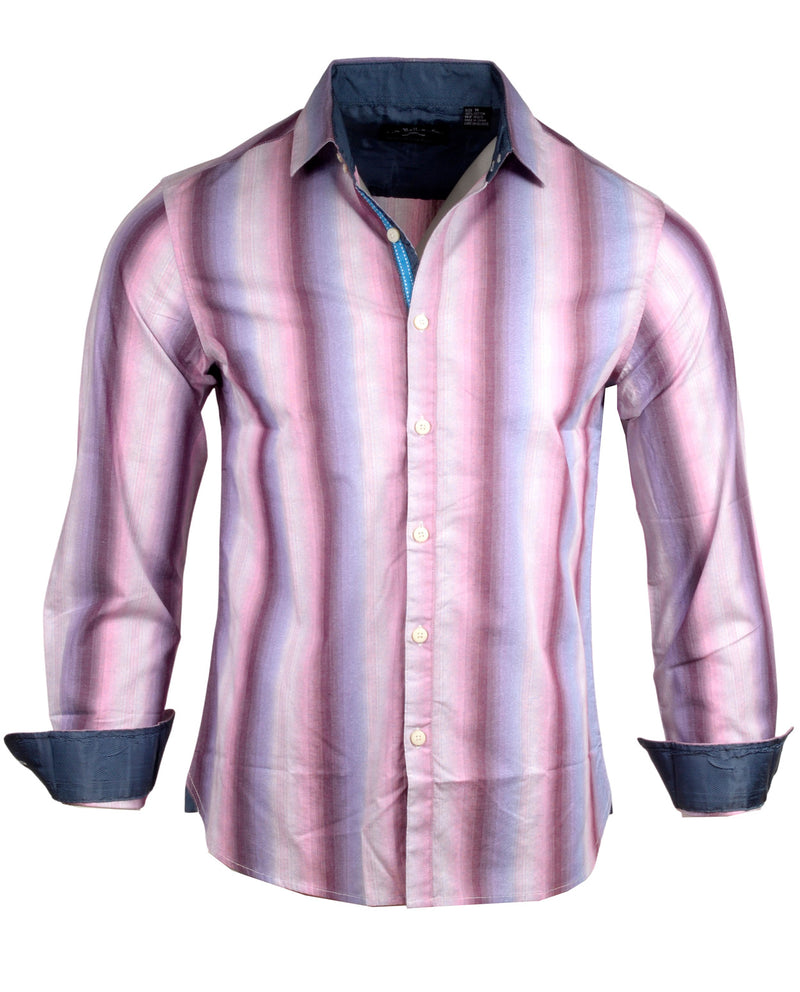 Men's Casual Fashion Button Up Striped Shirt - Bloody Valentine by Rock Roll n Soul1