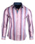 Men's Casual Fashion Button Up Striped Shirt - Bloody Valentine by Rock Roll n Soul