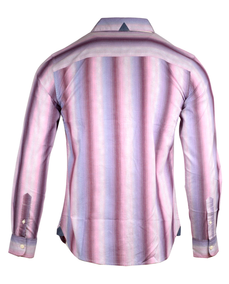 Men's Casual Fashion Button Up Striped Shirt - Bloody Valentine by Rock Roll n Soul2