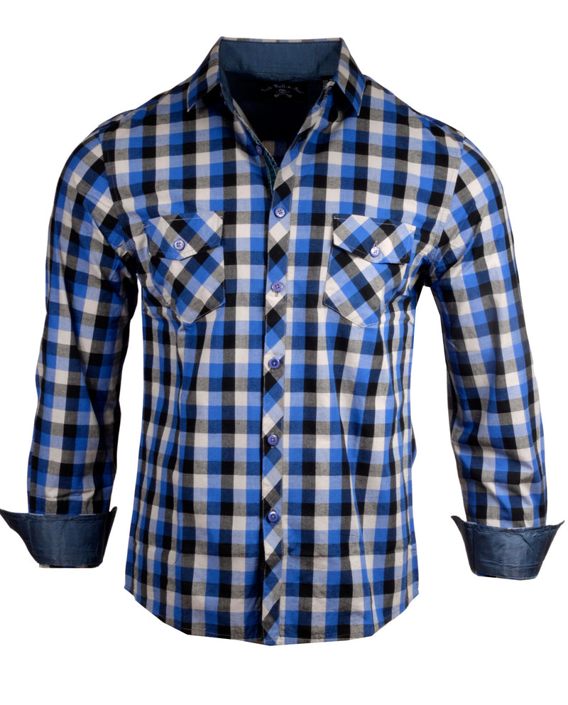 Men's Casual Fashion Button Up Plaid Shirt - Bad Decisions by Rock Roll n Soul1