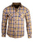 Men's Casual Fashion Button Up Plaid Shirt - Whiskey Lullaby by Rock Roll n Soul