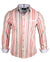 Men's Casual Fashion Button Up Striped Shirt - Seven Nation Army by Rock Roll n Soul1