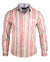 Men's Casual Fashion Button Up Striped Shirt - Seven Nation Army by Rock Roll n Soul