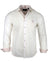 Men's Casual Fashion Button Up Shirt - Dobby Brothers in White by Rock Roll n Soul