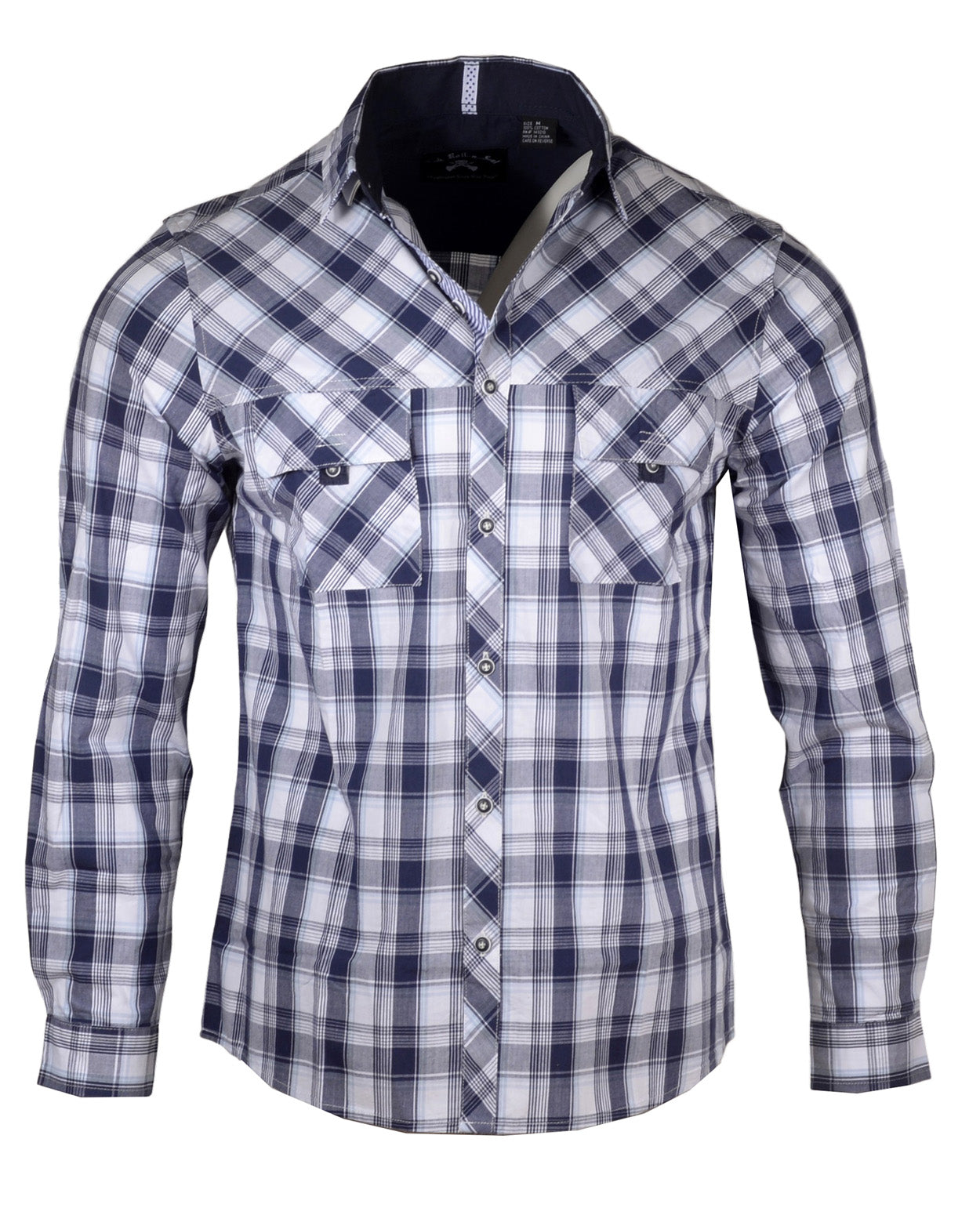Men's Casual Fashion Button Up Shirt - Bad in Plaid by Rock Roll n Soul