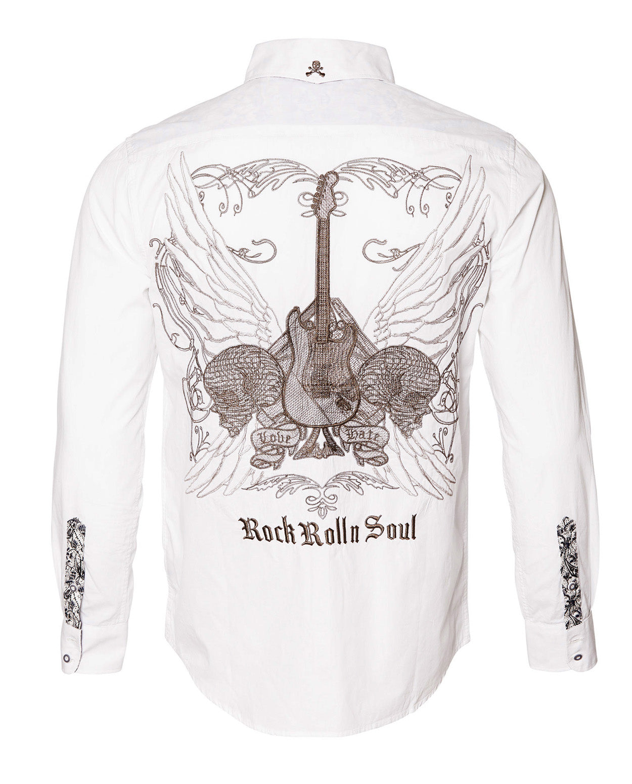 Men's Casual Fashion Button Up Shirt - Love Hate by Rock Roll n Soul
