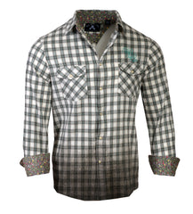 Men's Casual Fashion Button Up Shirt - In the End Teal Dip Dyed by Rock Roll n Soul
