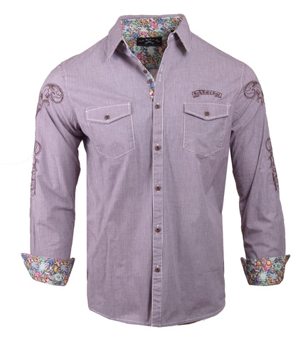 Men's Casual Fashion Button Up Shirt - Bad Boy Boogie by Rock Roll n Soul