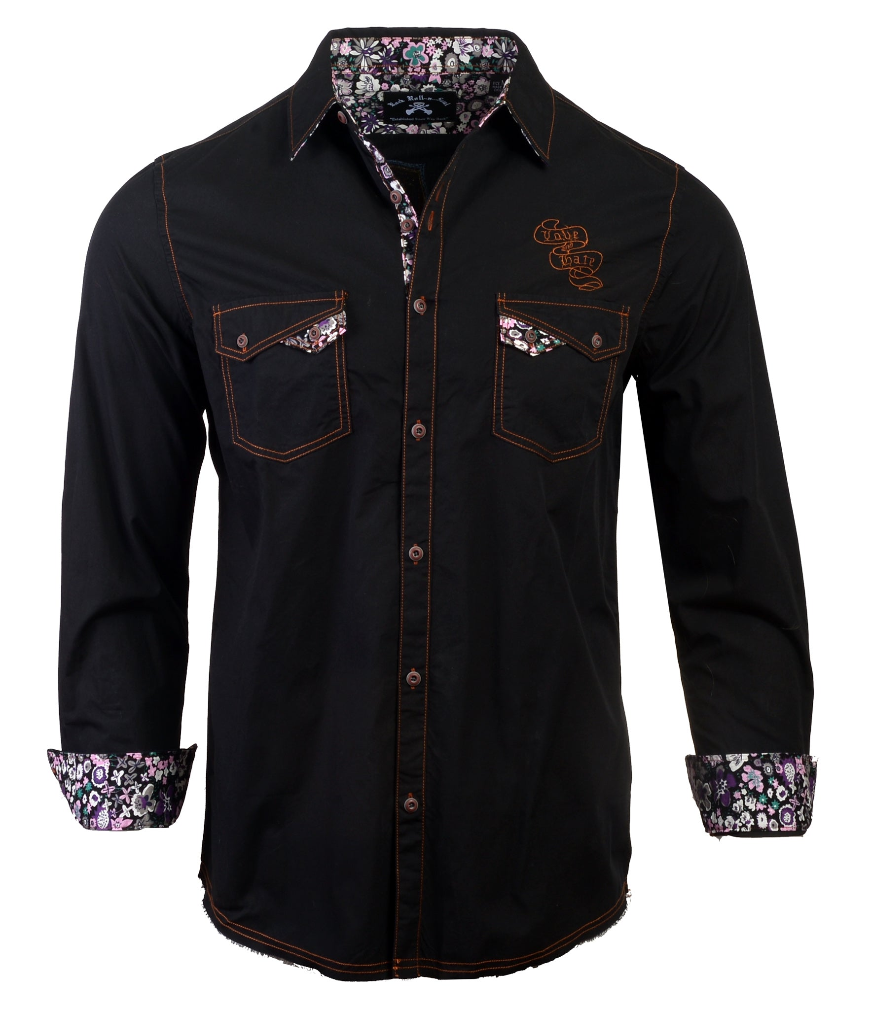 Men's Casual Fashion Button Up Shirt - Paradise City by Rock Roll n Soul