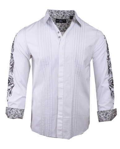 Men's Casual Fashion Button Up Shirt - Live Wire by Rock Roll n Soul