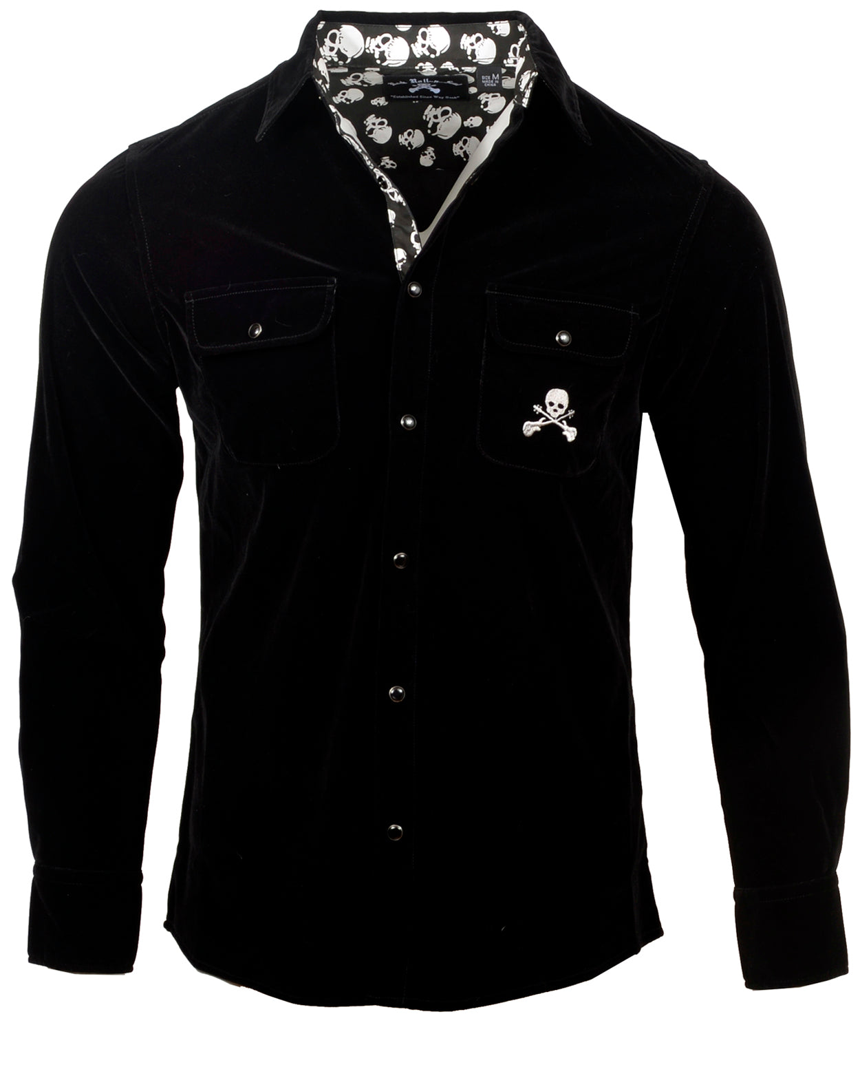 Men's Casual Fashion Button Up Shirt - Black Suede Shoes by Rock Roll n Soul