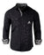 Men's Casual Fashion Button Up Shirt - A Star is Born Black by Rock Roll n Soul1