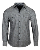 Men's Casual Fashion Button Up Shirt - Somebody to Me by Rock Roll n Soul