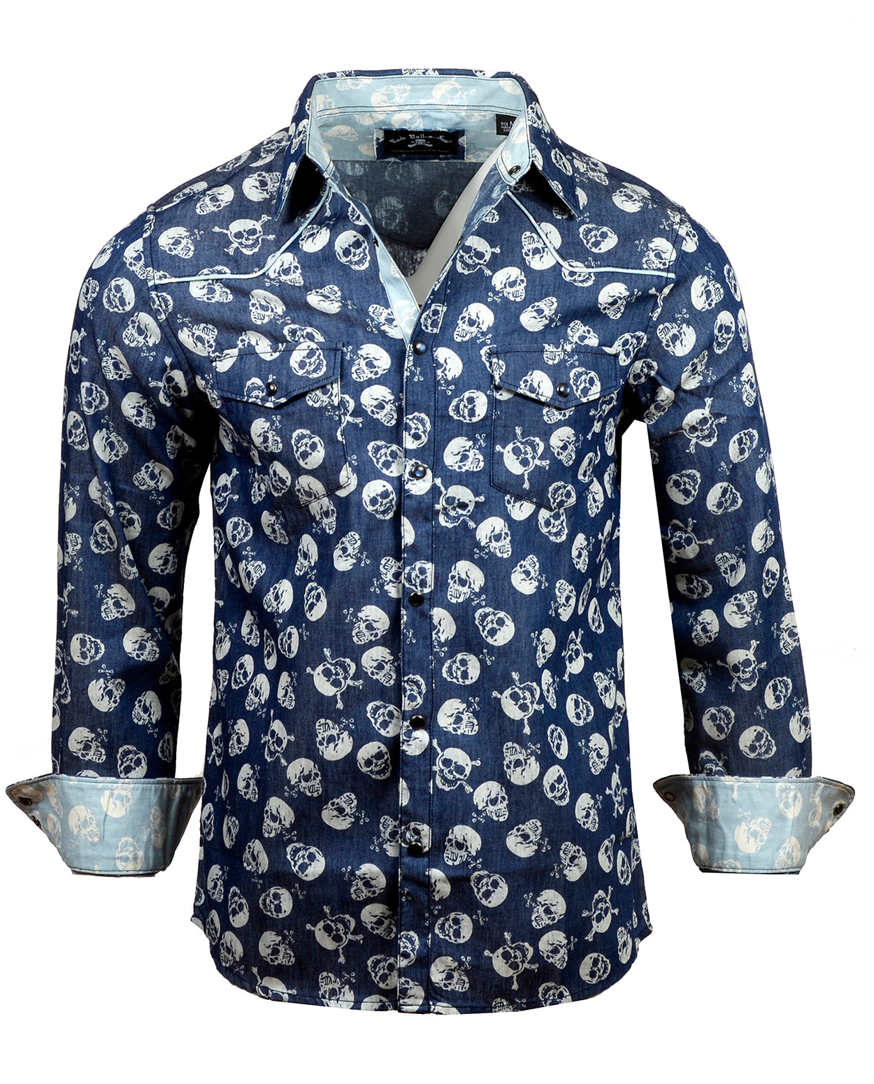 Men's Casual Fashion Button Up Shirt - Heathens by Rock Roll n Soul