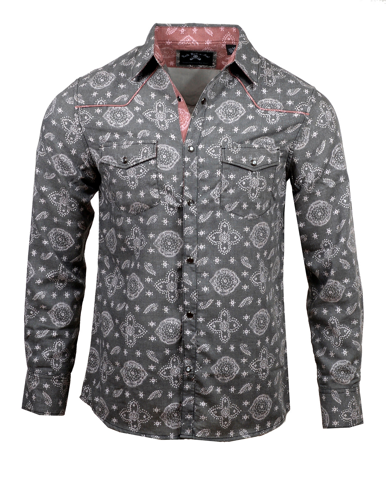 Men's Casual Fashion Button Up Shirt - The Gambler by Rock Roll n Soul