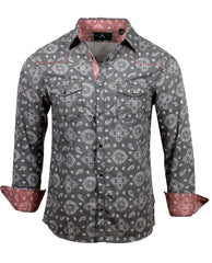 Men's Casual Fashion Button Up Shirt - The Gambler by Rock Roll n Soul1
