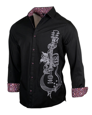 Men's Casual Fashion Button Up Shirt - Crazy Bi*ch by Rock Roll n Soul