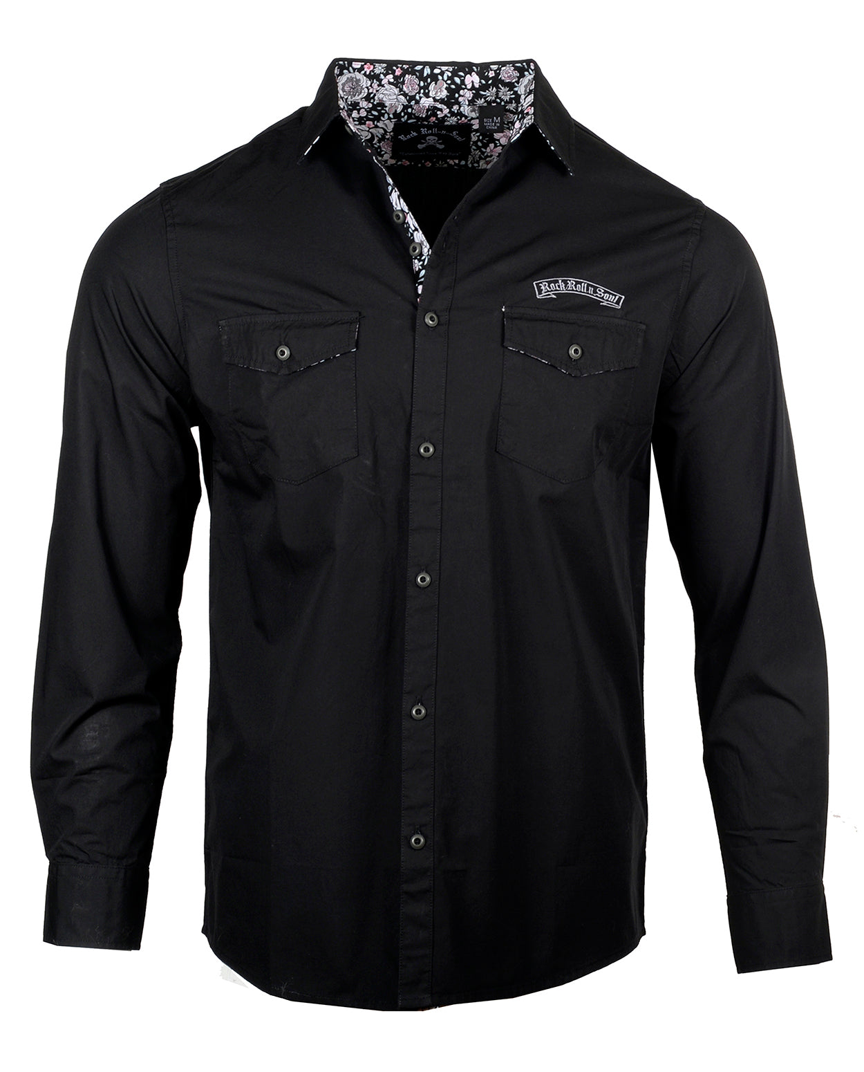 Men's Casual Fashion Button Up Shirt - More Than Words by Rock Roll n Soul
