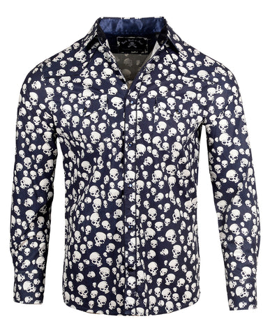 Men's Casual Fashion Button Up Shirt - Pompeii by Rock Roll n Soul
