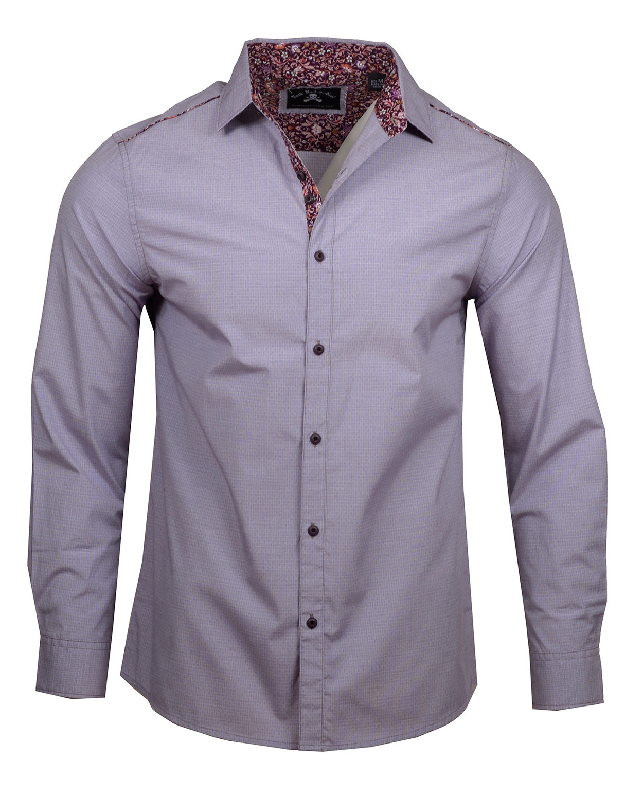 Men's Casual Fashion Button Up Shirt - Your Love Lilac by Rock Roll n Soul